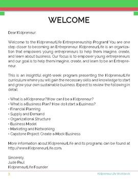 KidpreneurLife Workbook