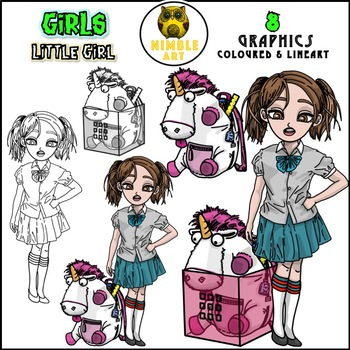 Girls Clipart - Little Girl