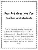 Kids A-Z Step by Step Directions for Teachers and Kids