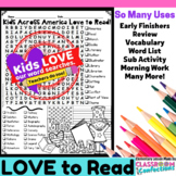 Kids Across America Love to Read: Word Search: Fun for Rea
