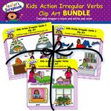 Kids Action Irregular Verbs Clip Art BUNDLE