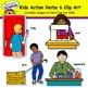 Kids Action Verbs 6 Clip Art