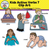 Kids Action Verbs 7 Clip Art