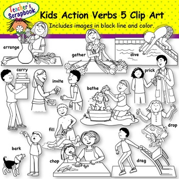 Kids Action Verbs BUNDLE Set 2