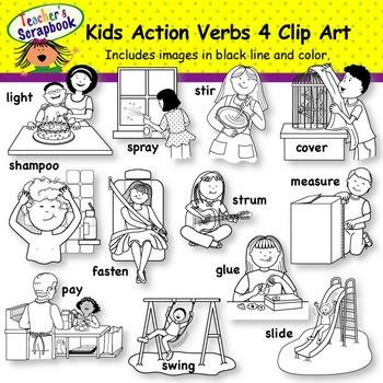 Kids Action Verbs BUNDLE Set 2