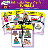 Kids Action Verbs Clip Art BUNDLE 3