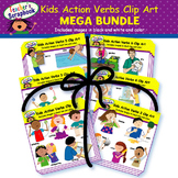 Kids Action Verbs Clip Art MEGA BUNDLE