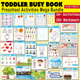 Toddler Busy Binder - Preschool Activity Busy Book Set - Worksheets