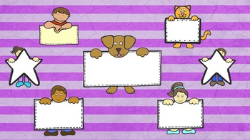 Kids & Animals With Signs Clip Art