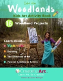 Kids Art Activity Book: Into the Woodlands