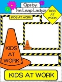 Kids At Work- Borders and Cone Clip Art