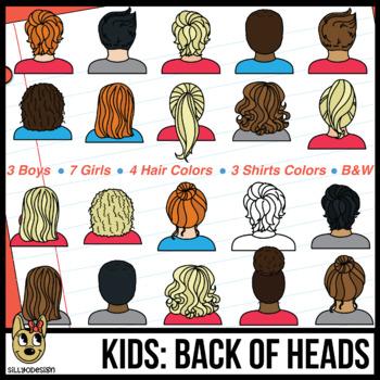 Kids: Back of Head Clip Art