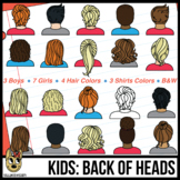 Kids: Back of Head Clip Art