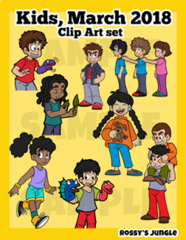 Kids Being Kids March 2018 Clip Art set