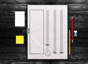 MUSIC: Kids Blank Staff  Paper Template Activity Kit [Treble Clef & F Clef]