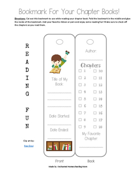 Kids Bookmark for Chapter Books