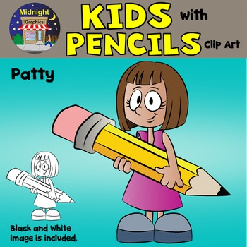 School Kids Bundle - Kids Reading and Kids with Pencils