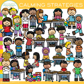 Kids Calming Strategies Clip Art
