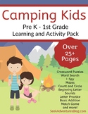 Kids Camping Activity Pack for PreK - 1st Grade