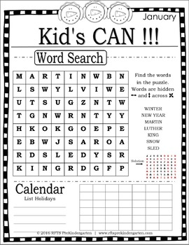 KID'S CAN (A Year Of Activities)