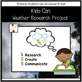Kids Can Weather Research Project