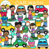 Kids Car Wash Clip Art