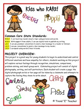 Project Based Learning:  Teaching Kids to Recognize their