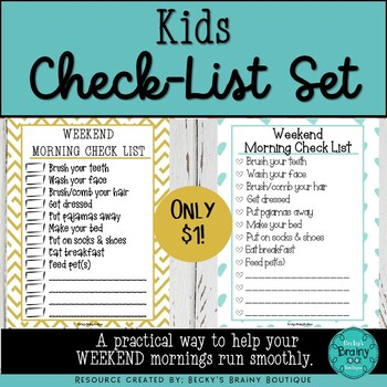 Kids Checklists for Home