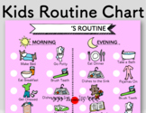 Kids Chore/ Routine Chart: Morning and Evening