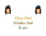 Kids Chores, To Do's, Workbox, Task Cards.