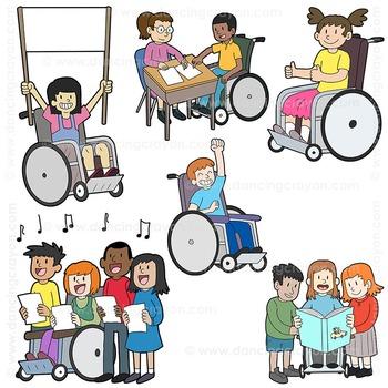 Clip Art Kids with Disabilities / Abilities Kids Clip Art