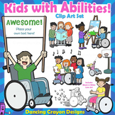 Clip Art Kids with Disabilities / Abilities Kids Clip Art