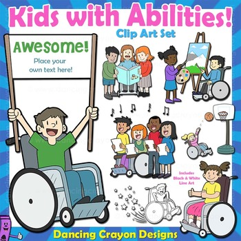 Kids with Disabilities / Abilities Clip Art