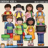 Kids Clip Art 4 (school kids)