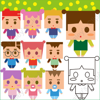 Kids and Students (Clip Art)