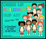 Kids Clip Art - Dress Up Starter Kit {Personal or Commercial Use}