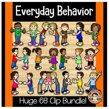 Kids Clip Art -  Everyday Behavior Clipart