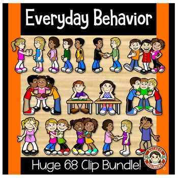 Kids Clip Art -  Everyday Behavior Clipart
