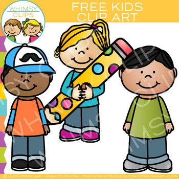 Free Kids Clip Art by Whimsy Clips | Teachers Pay Teachers