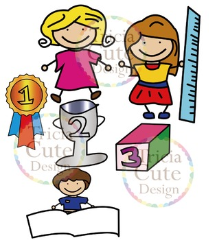 Kids Clip Art Good Children in School
