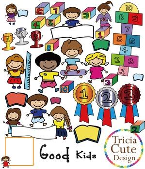 Kids Clip Art Good Children in School