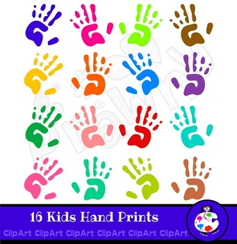 Kids Clip Art Hand Prints