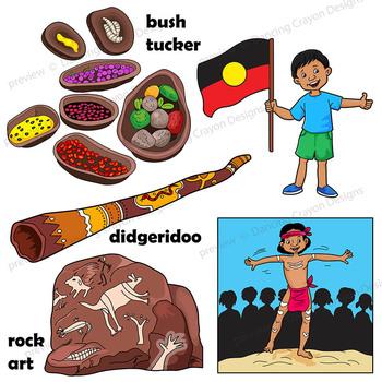 Kids Clip Art: Indigenous Australian Children Clipart