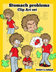 Kids Clip Art: Indigestion or Stomach problems