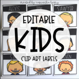 Kids Clip Art Labels (EDITABLE)