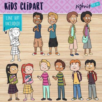 Kids Clip Art   Middle Age   Middle School   Cartoon Kids Clipart   Older Kids