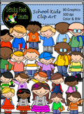 Kids Clip Art - Ready For School (90 Graphics)