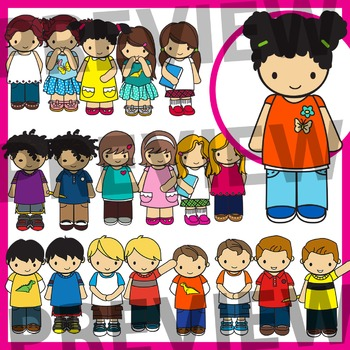 Kids Clip Art Set 1