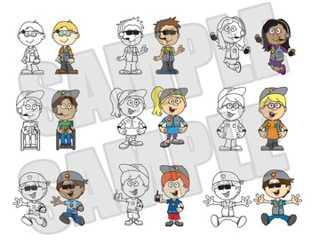 Kids Clip Art - Spy - Detective - Super Hero - Themed