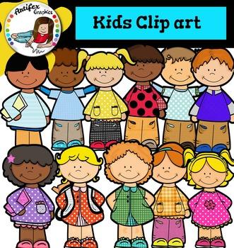 Little Kids Clip art - Color and black/white